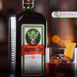 Cesta con Licor Jägermeister